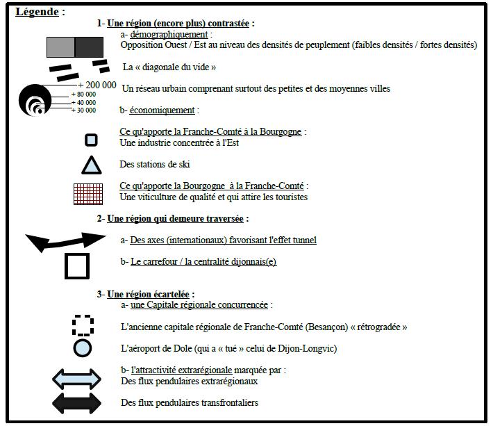 Carte Bourgogne Liberte.La Bourgogne Franche Comte Portraits Cartographiques D Une